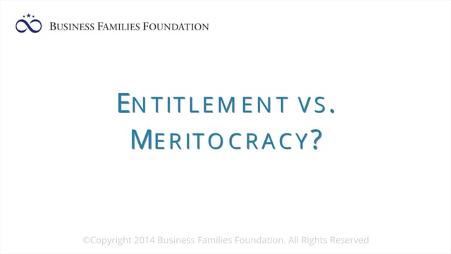 Entitlement vs. Meritocracy