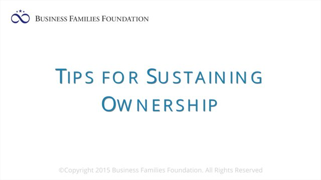 Tips for Sustaining Ownership