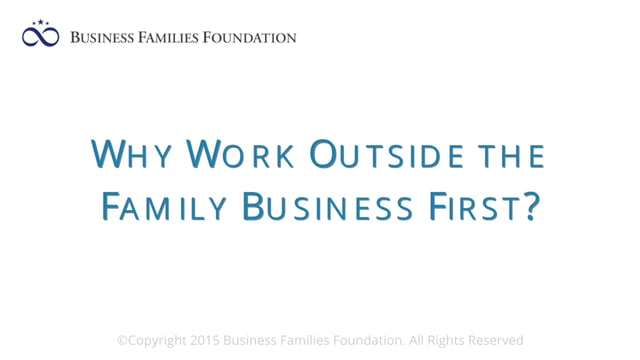 Why Work Outside the Business First?