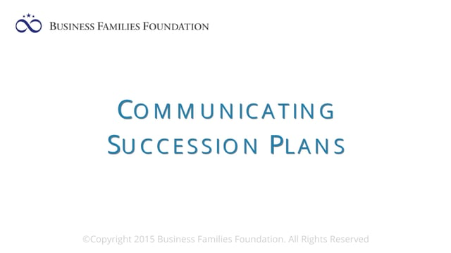 Communicating Succession Plans