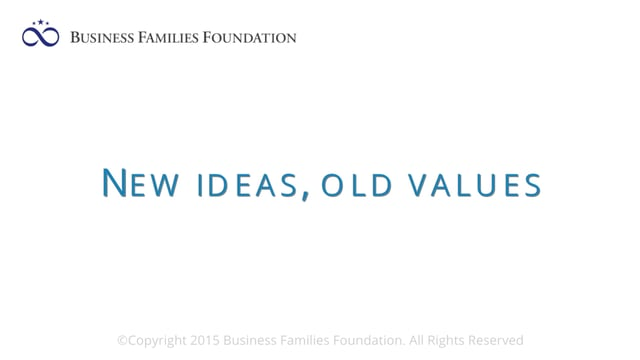 New Ideas, Old Values