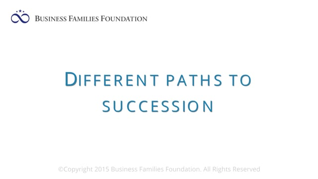 Different Paths to Succession