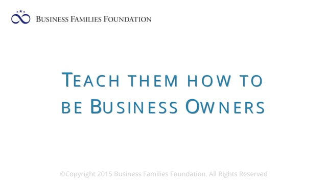 Teach Them How to be Business Owners