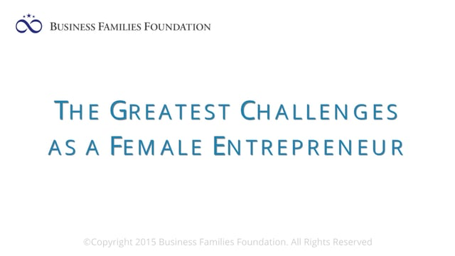 The Greatest Challenges as a Female Entrepreneur