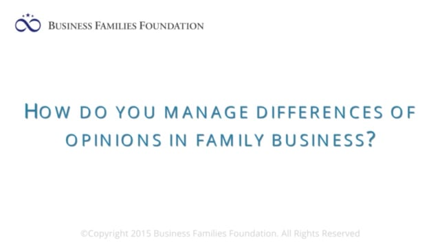 How Do You Manage Differences of Opinions in Family Business?