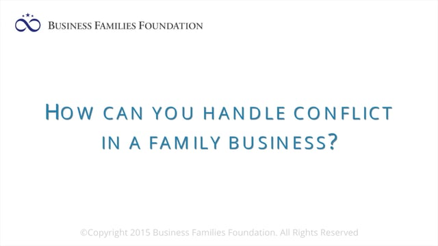 How Can You Handle Conflict in a Family Business?