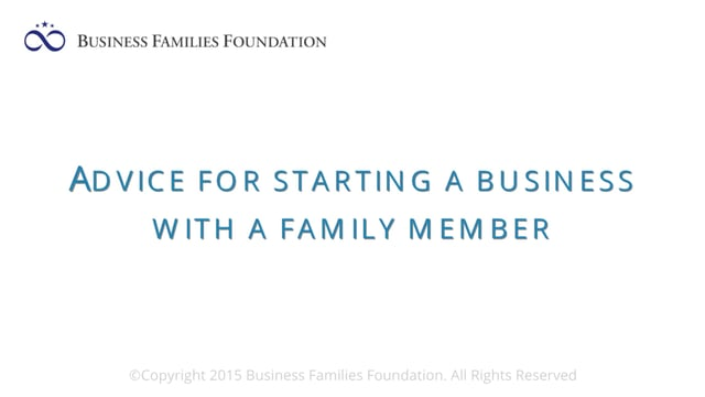 Advice for Starting a Business with a Family Member