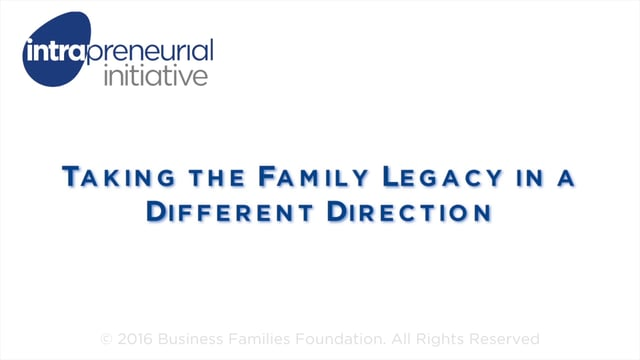 Taking the Family Legacy in a Different Direction