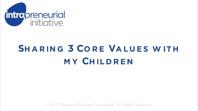 Sharing 3 Core Values with my Children