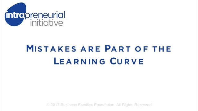 Mistakes are Part of the Learning Curve