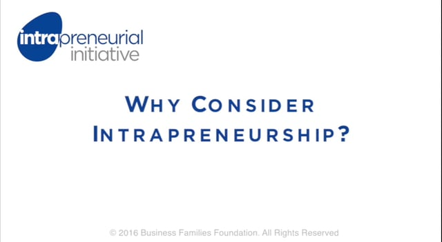 Why Consider Intrapreneurship?