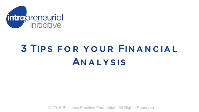 3 Tips for your Financial Analysis