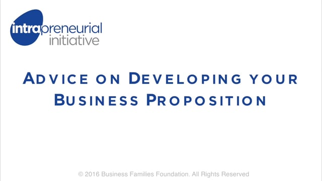 Advice on Developing your Business Proposition
