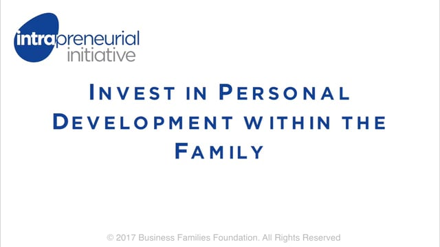 Invest in Personal Development within the Family