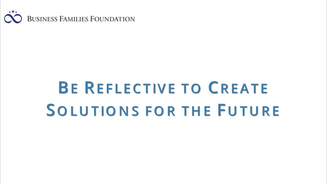 Be Reflective to Create Solutions for the Future