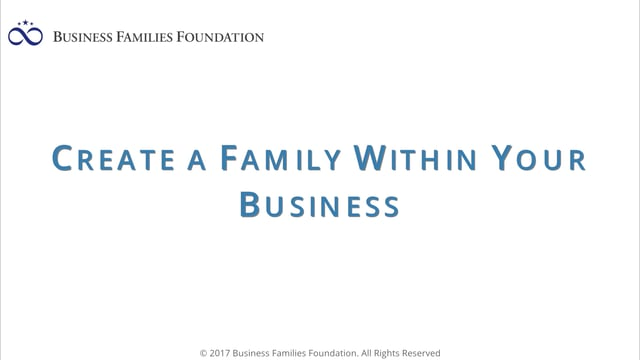 Create a Family Within Your Business