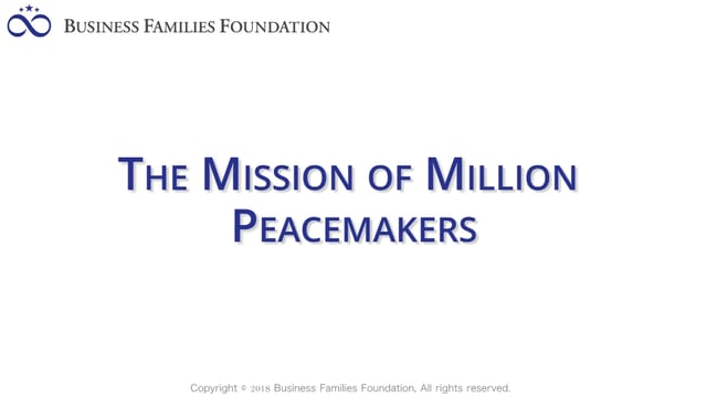 The Mission of Million Peacemakers