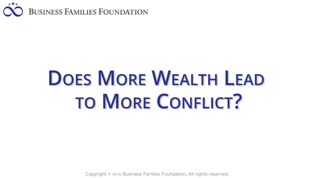 Does More Wealth Lead to More Conflict?