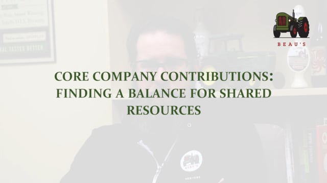 Core Company Contributions: Finding a Balance for Shared Resources