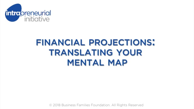 Financial Projections: Translating your Mental Map