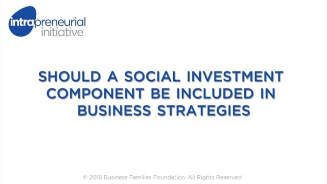 Should a Social Investment Component be Included in Business strategies?